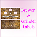 Brewer & Grinder Labels